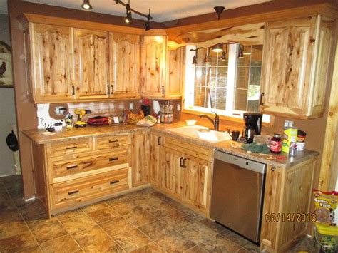 Image result for knotty hickory cabinets | Hickory kitchen
