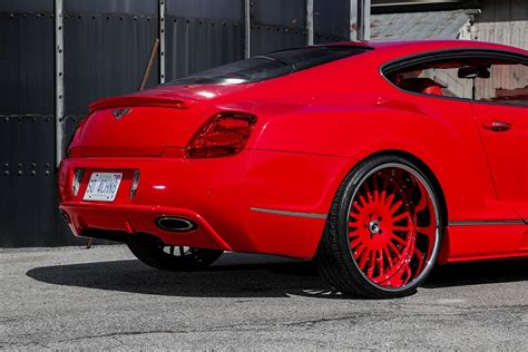 red bentley lipstick red bentley gt sports widebody kit and forgiato
