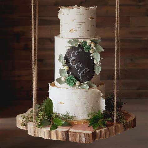 birch tree wedding cakes   latest fall trend
