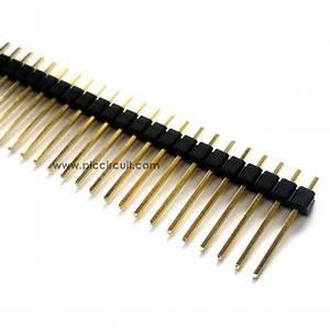 Pin Header  2 54mm  Straight  1x40 Way