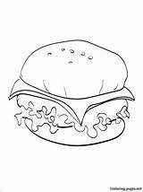 Cheeseburger Coloring Pages Drawing Print Printable Food Line Getdrawings Penciling Eat Those Children sketch template
