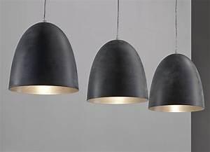 Luminaire Suspension Gris 3 Lampes Design GRENO