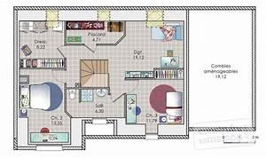 maison a etage de 140 m2 detail du plan de maison a With plan de maison 120m2 3 vaste villa detail du plan de vaste villa faire