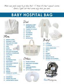 Baby Hospital Bag Checklist Printable