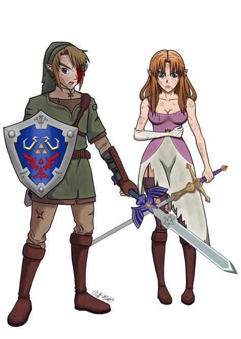 Battle Damaged Link And Zelda Twilight Princess Heroart88