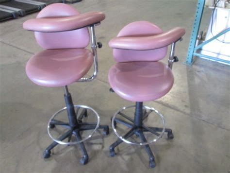 used dental assistant leather saddle stool professional