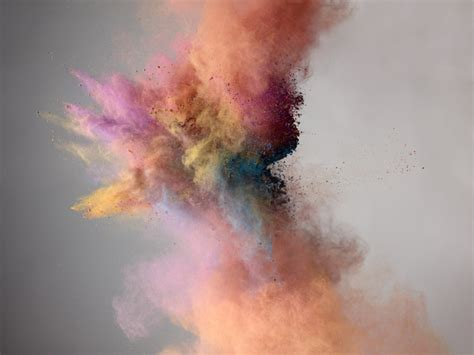 explosion of colored powder by marcel wave avenue