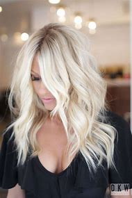 Bleach Blonde Hair with Highlights