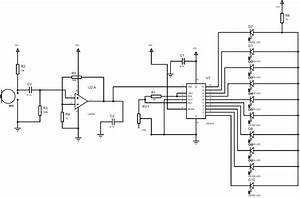 led vu meter circuit diagram using lm3914 and lm358 With vu meter circuit with 10 led b2b electronic components