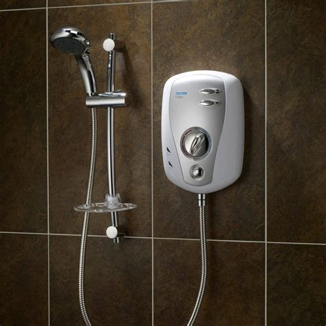 Electric Showers by Triton T100xr Electric Shower 8 5 Kw White Chrome