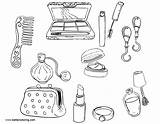 Coloring Makeup Pages Tools Printable Adults sketch template