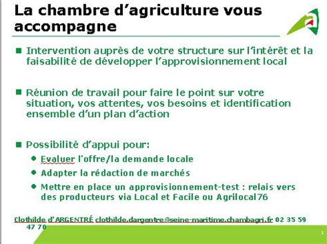 adresse chambre d agriculture offre alimentaire normandie