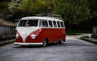 Bus Volkswagen T1 Minivan 4k Background Ultra