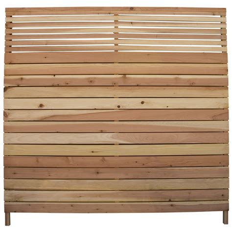 shop redwood flat top wood fence panel common  ft   ft actual  ft   ft  lowescom