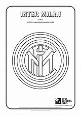 Coloring Inter Pages Milan Soccer Cool Logos Clubs Football Liverpool Badge Team Badges Fc Club Madrid United Ham West Italian sketch template