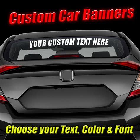 "Custom 23"" Vehicle Banners Decals  Raven Decals"