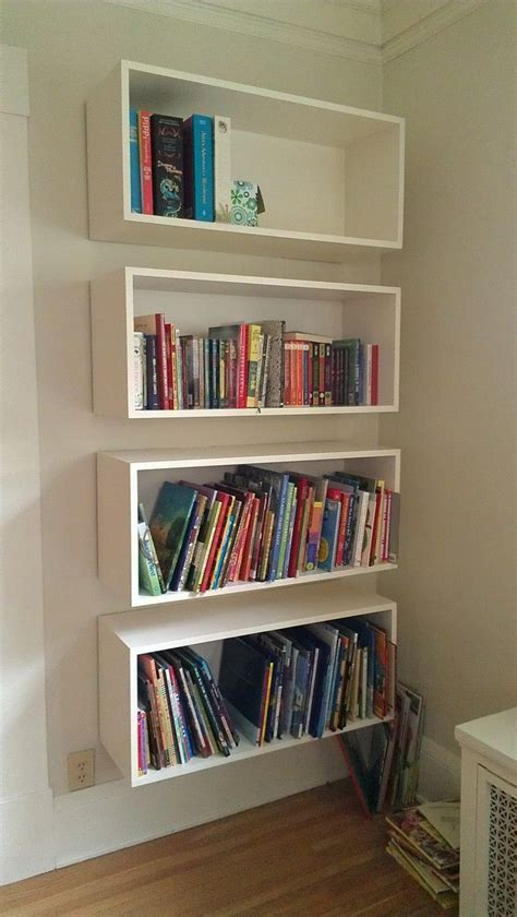 wall mounted bookshelves images  pinterest