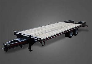 10k Pintle Pull Flatbed Equipment Trailer