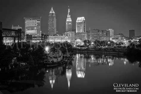cleveland skyline june  metroscenescom city