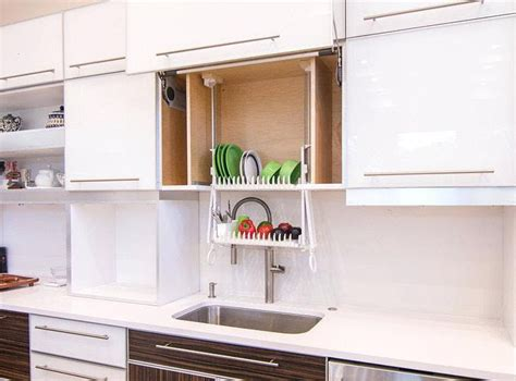 plate rack kitchen cabinet dish drying closets apartment therapy 4280