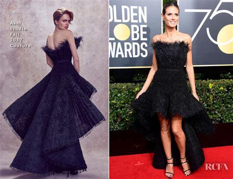 Heidi Klum Ashi Studio Couture Golden Globe