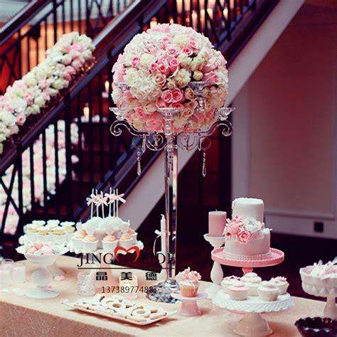 crystal candleholder  put flowers centerpieces wedding