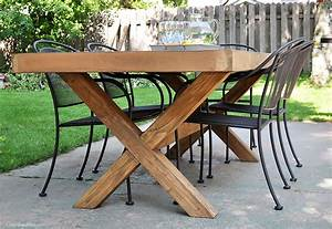 DIY Outdoor Table Free Plans - Cherished Bliss
