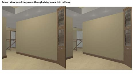 stained trim and painted doors 3d renderings attached