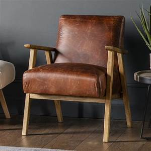 Neyland, Armchair, Vintage, Brown, Leather