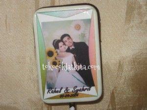 souvenir pernikahan coklat lolipop foto edible callsms