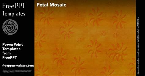 petal mosaic powerpoint templates