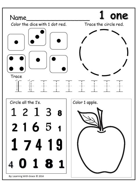 Number Recognition Worksheets For Preschoolers Education Com Number Best Free Printable Worksheets