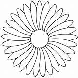 Coloring Pages Daisy Flower Printable Print Paper Getcolorings sketch template