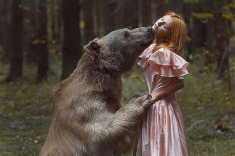 wild animals  elegant girls   dream
