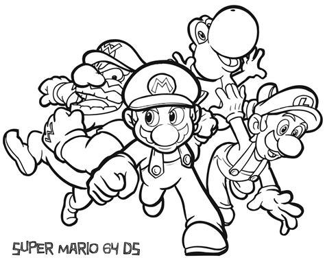 Kleurplaten Mario Bros by Best Mario Kleurplaat Huolang