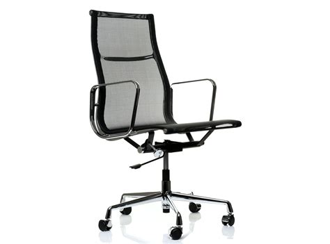 eames office chair mesh ea119 aluminum high back