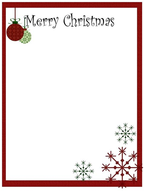 merry christmas letter template free christmas stationery and letterheads you can print