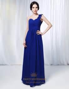 chiffon bridesmaid dresses one shoulder chiffon bridesmaid dress royal blue chiffon formal dress one shoulder chiffon