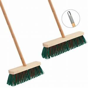 Heavy Duty Wooden Sweeping Brush Stiff Outdoor Yard Broom ...