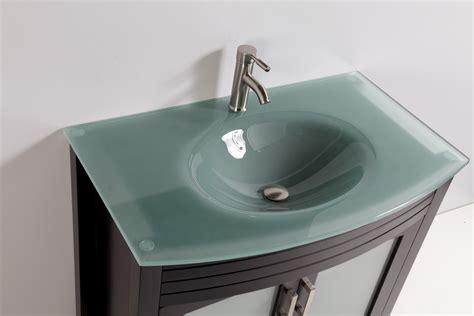 tempered glass top 36 quot single sink bathroom vanity
