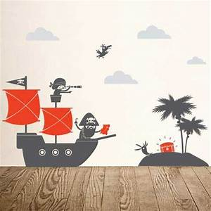 kids bedroom ahoy ships pirate wall decals With pirate wall decals