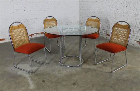 mid century daystrom glass chrome dinette table and
