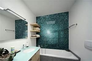 Panneau Mur Salle De Bain : rev tement mural salle de bains alternative au carrelage ~ Premium-room.com Idées de Décoration