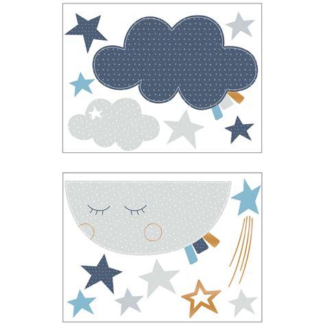 chambre bébé lune stickers chambre bébé lune merlin de sauthon baby deco