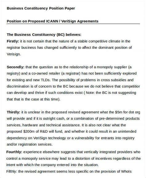 business paper templates  sample  format   premium templates