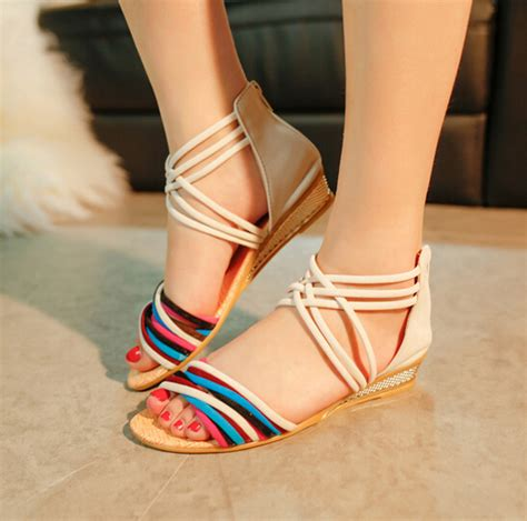 dh latest ladies sandals designs flat sandals