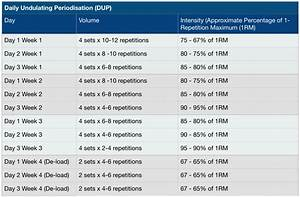 daily undulating periodisation dup 101 jc fitness With undulating periodization template