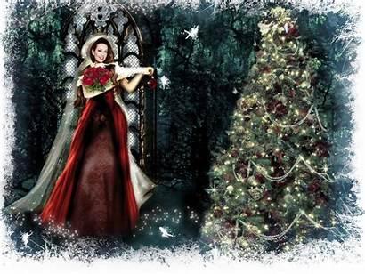 Fairy Christmas Desktop Wallpapers Winter Background Fantasy