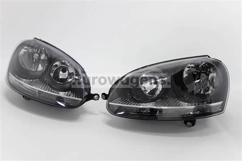 vw golf mk5 03 08 black headlights headls set pair