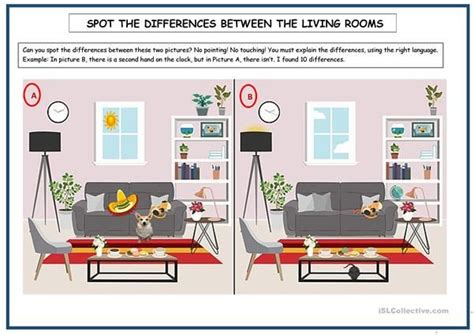 spot  differences  images esl worksheets spots